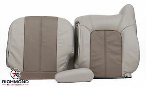 2001 2002 Gmc Yukon Denali Xl Driver Side Complete Leather Seat Covers 2tone Tan