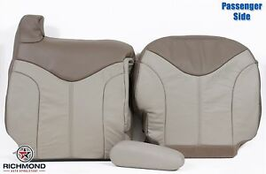 2001 Gmc Sierra C3 Denali passenger Side Complete Leather Seat Covers 2 tone Tan