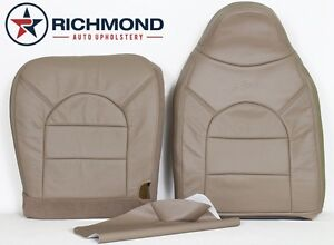 2000 Ford F250 F350 Lariat driver Side Complete Leather Seat Covers Tan 40 20 40