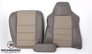 2004 Ford Excursion Eddie Bauer driver Side Complete Leather Seat Covers 2 tone