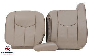 2003 2007 Chevy Silverado Lt Hd Z71 Driver Side Complete Leather Seat Covers Tan