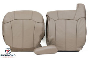2000 Chevy Silverado driver Side Complete Replacement Leather Seat Covers Tan