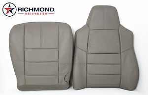 2008 2010 Ford F250 F350 Lariat driver Side Complete Leather Seat Covers Gray