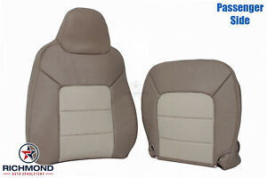 03 06 Expedition Eddie Bauer Passenger Complete Leather Seat Covers 2 Tone Tan