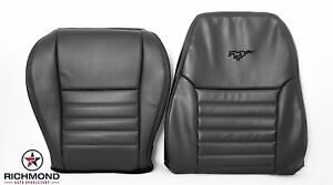 2002 2003 Mustang Gt driver Side Complete Perforated Leather Seat Covers Black