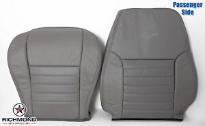 99 04 Ford Mustang Gt Passenger Side Bottom Lean Back Leather Seat Covers Gray