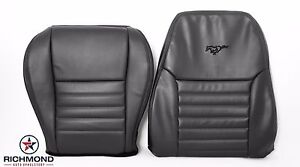 99 04 Ford Mustang Gt Driver Side Bottom Lean Back Leather Seat Covers Black
