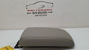2010 Chevy Impala Front Center Console Arm Rest Lid Only Gray Leather