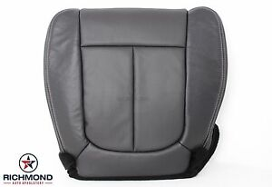 2009 2014 Ford F150 Lariat Driver Side Bottom Leather Bucket Seat Cover Black