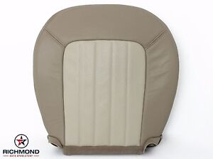 2003 2004 Mercury Mountaineer Driver Side Bottom Leather Seat Cover 2 Tone Tan