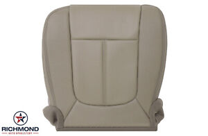 2011 2012 Ford F250 F350 Lariat driver Bottom Perforated Leather Seat Cover Tan