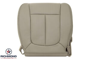 2011 2014 Ford F150 Lariat Driver Side Bottom Perforated Leather Seat Cover Tan