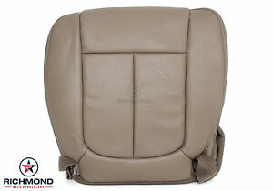 2009 2010 Ford F150 Lariat Driver Side Bottom Perforated Leather Seat Cover Tan