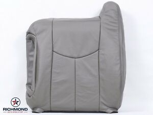 2003 2006 Chevy Avalanche 1500 Lt Z71 Driver Lean Back Leather Seat Cover Gray