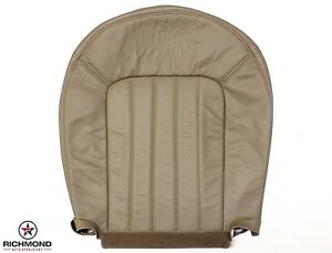 2002 2005 Mercury Mountaineer Driver Side Bottom Genuine Leather Seat Cover Tan