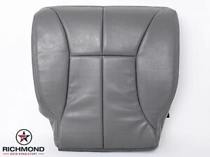 2000 2001 Dodge Ram 1500 Slt Laramie driver Side Bottom Leather Seat Cover Gray