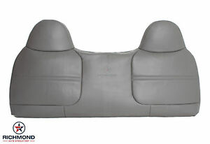 2002 Ford F450 F550 Xl Work Truck front Bench Seat Lean Back Vinyl Cover Gray