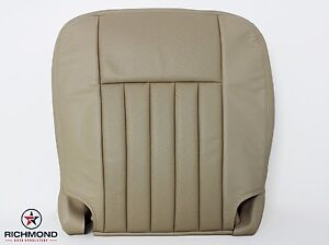 2005 2006 Lincoln Navigator driver Side Bottom Perforated Leather Seat Cover Tan