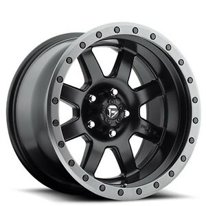 4 set Off Road 18x9 Fuel Wheels D551 Trophy Black Rims