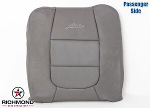 2003 Ford F150 Lariat Crew passenger Lean Back Leather Captain Seat Cover Gray