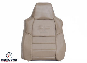 02 03 04 Ford Excursion Limited Driver Side Lean Back Leather Seat Cover Tan
