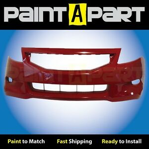 2008 2009 2010 Honda Accord Coupe Front Bumper Painted R94 San Marino Red