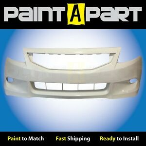 2008 2009 2010 Honda Accord Coupe Front Bumper Painted Nh578 Taffeta White