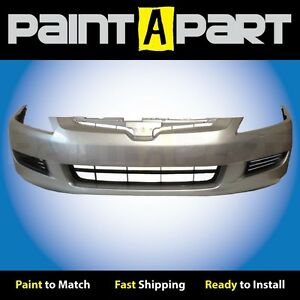 2003 2004 2005 Honda Accord Coupe Front Bumper Painted Nh623m Satin Silver Met