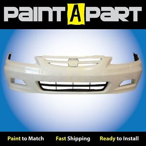 2001 2002 Honda Accord Coupe Front Bumper Painted Nh578 Taffeta White