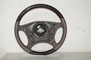 Mercedes Benz S Class Wood Leather Steering Wheel Brown Oem A 220 460 0503