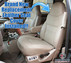 2000 Ford Excursion Limited Driver Lean Back Replacement Leather Seat Cover Tan