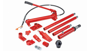 10 Ton Super Heavy Duty Portable Hydraulic Equipment Kit Bend Lift Push Straight
