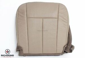 2007 2008 Ford Expedition driver Side Bottom Perforated Leather Seat Cover Tan
