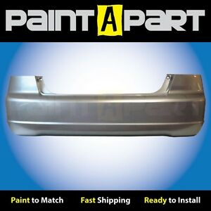 2001 2002 2003 Honda Civic Sedan Rear Bumper Painted Nh623m Satin Silver Met