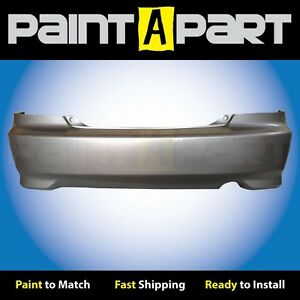 Fits 2004 05 Honda Civic Coupe Rear Bumper Painted Nh623m Satin Silver Metallic