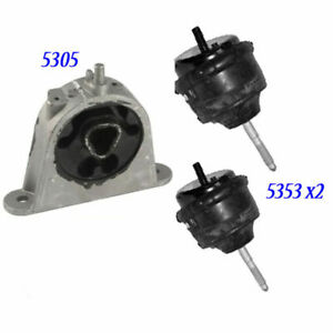 For 07 08 Chrysler Pacifica 4 0l 5353 2 5305 M650 Enigne Motor Mount 3pcs