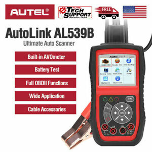 Autel Autolink Al539b Electrical Battery Tester Obd2 Code Reader Diagnostic Tool