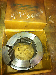 One Bardons Oliver Turret Lathe Serrated Round Or Hex Collet Pad Hardinge
