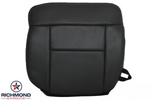 2008 Ford F 150 Lariat Driver Side Bottom Replacement Leather Seat Cover Black