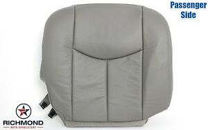 2003 Chevy Tahoe Lt Z71 2wd 4x4 passenger Side Bottom Leather Seat Cover Gray