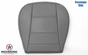 1999 2000 Ford Mustang V6 Convertible passenger Bottom Leather Seat Cover Gray