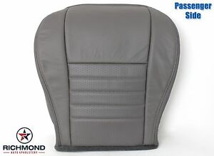 99 04 Ford Mustang Gt V8 Convertible passenger Bottom Leather Seat Cover Gray