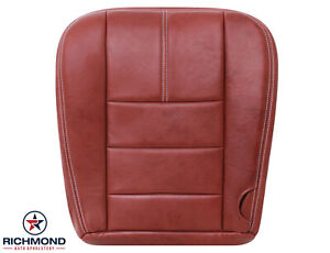 2008 Ford F250 King Ranch driver Side Bottom Leather Seat Cover Chaparral Dk Red