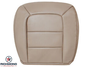 2001 Ford Explorer Sport Trac Driver Bottom Replacement Leather Seat Cover Tan
