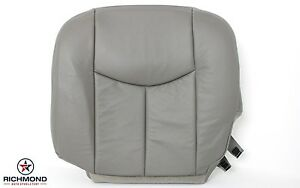 2004 Gmc Sierra 2500hd Driver Side Bottom Replacement Leather Seat Cover Gray