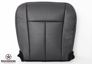 2007 2008 Ford Expedition driver Side Bottom Perforated Leather Seat Cover Black
