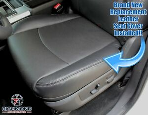 2012 Dodge Ram 2500 3500 Laramie Driver Side Bottom Leather Seat Cover Dark Gray