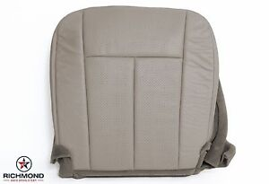 2007 2008 Ford Expedition driver Side Bottom Perforated Leather Seat Cover Gray