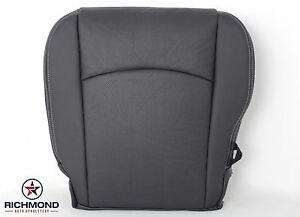 09 12 Dodge Ram Laramie Driver Side Bottom Perforated Leather Seat Cover Dk Gray
