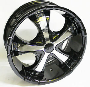 17x7 5 Shooz Wheels Rims Black 5x112 120 M5 X3 X5 Crossfire Passat Bmw 5 Series